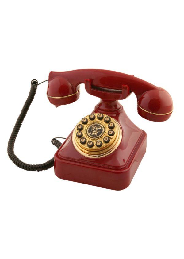 Bordo Eskitme Çevirmeli Klasik Telefon