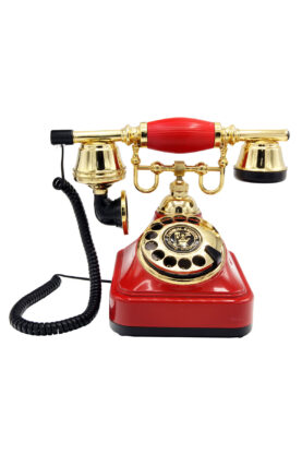 Kırmızı Retro Çevirmeli Telefon CT-608