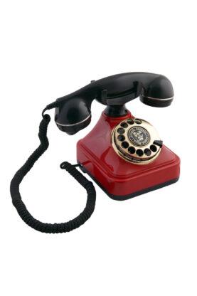 Kırmızı Siyah Klasik Çevirmeli Telefon CTA-05MDR