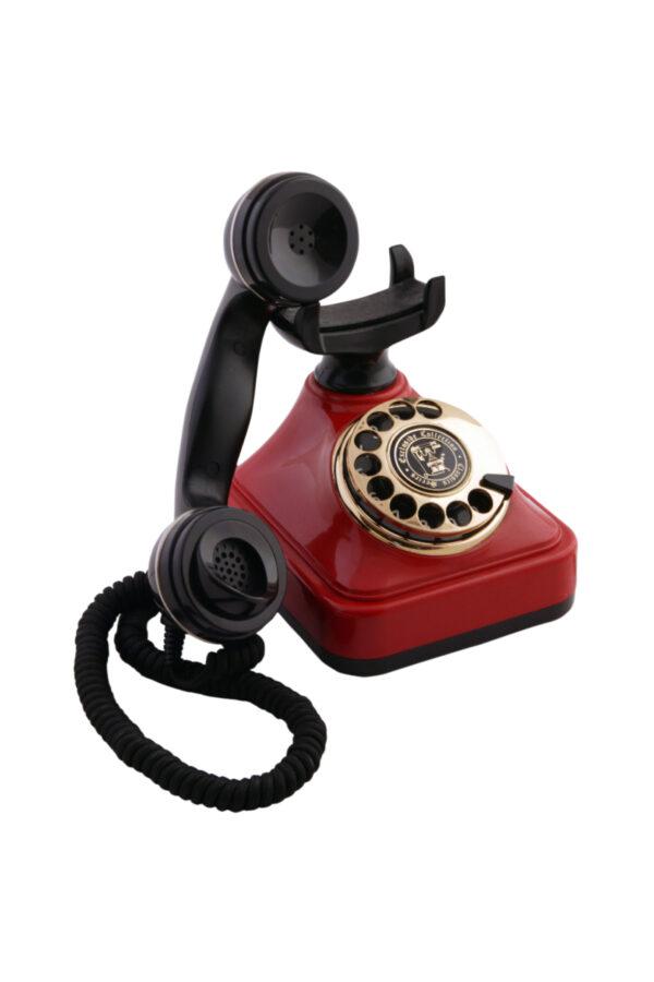 Kırmızı Siyah Klasik Çevirmeli Telefon